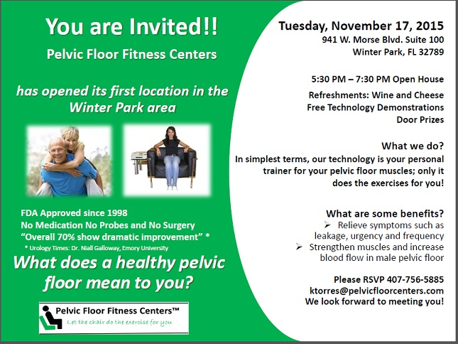 Pelvic Floor Fitness Center Open House